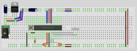Fritzing barebones arduino